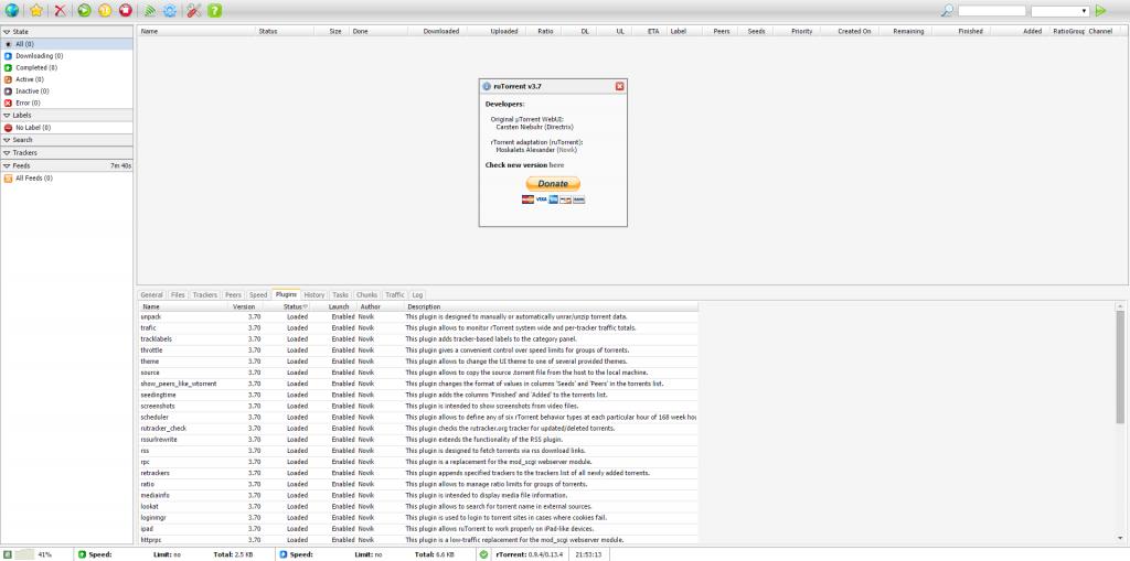 ruTorrent 3.7