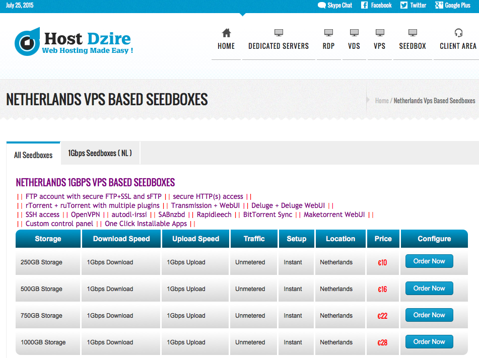 Screenshot of  1000GB – 1Gbps Vps Based Seedbox