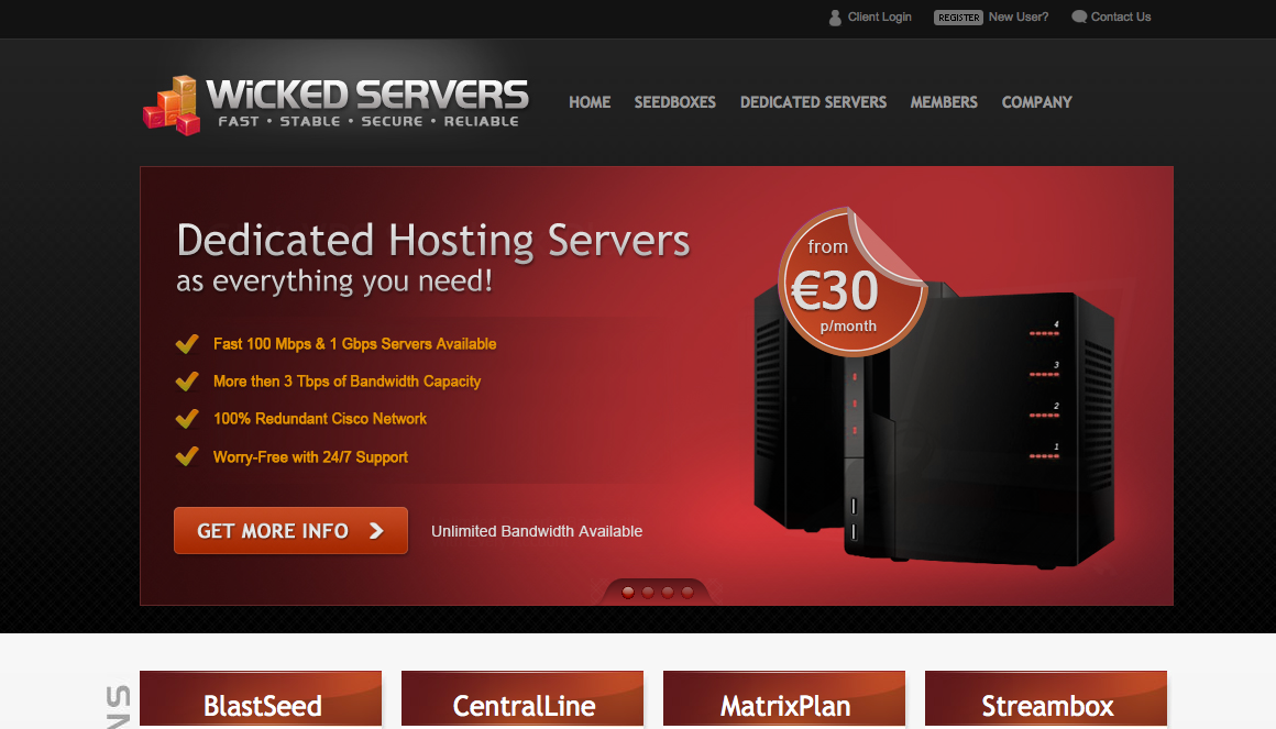 Screenshot of  Hard VPS Series – SpeedBOX