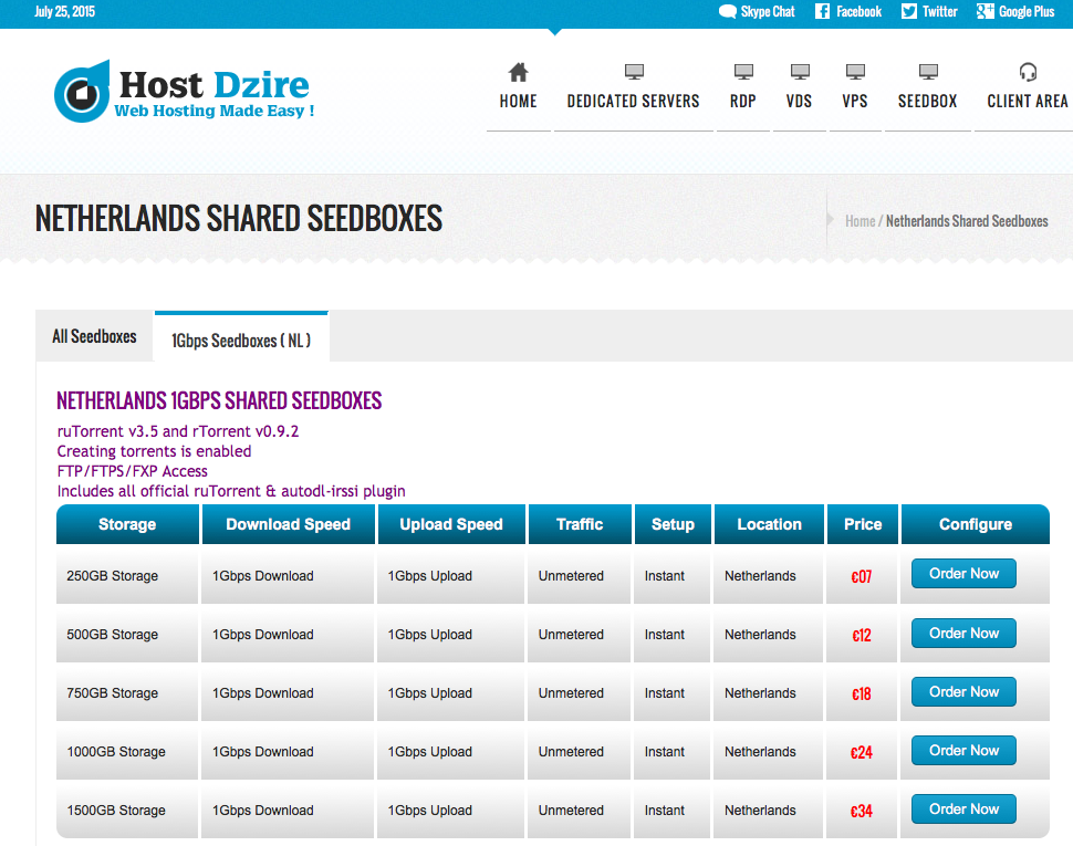 Screenshot of  NETHERLANDS STORAGE RDP (1GBPS)