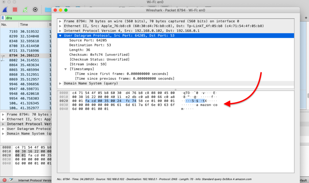 Wireshark analyzer