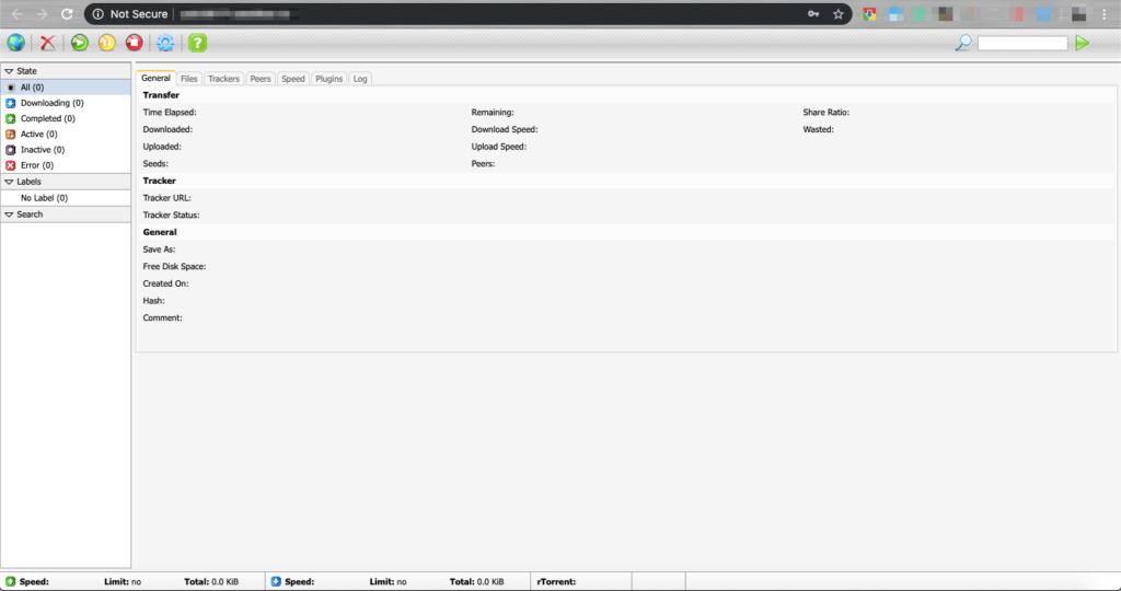 ruTorrent web ui