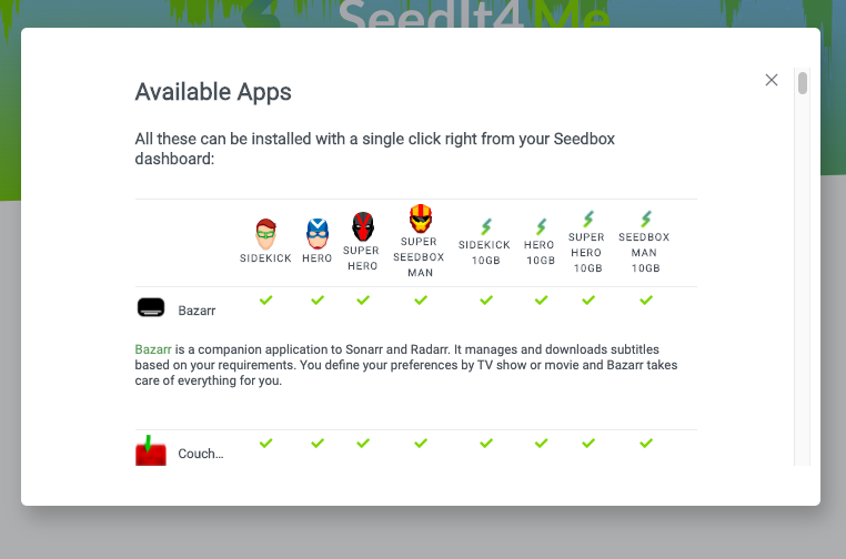Seedit4Me available apps