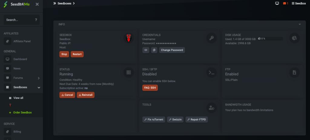 Seedit4Me Client Area