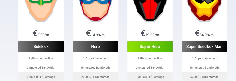 Seedit4Me seedbox plans prices